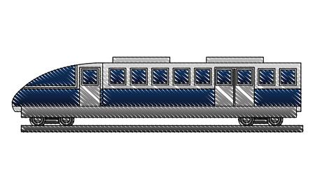 electric fast train icon vector illustration design Çizim
