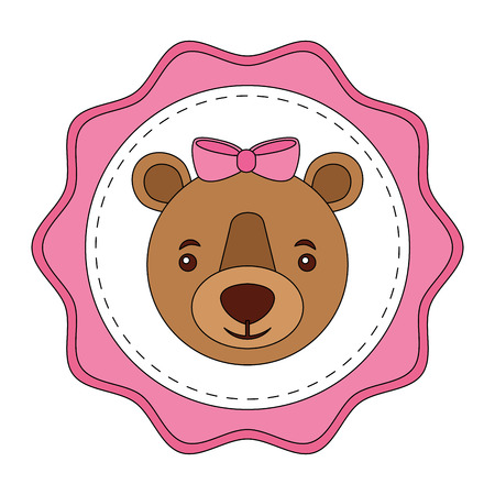 lace female bear grizzly icon vector illustration design Illustration