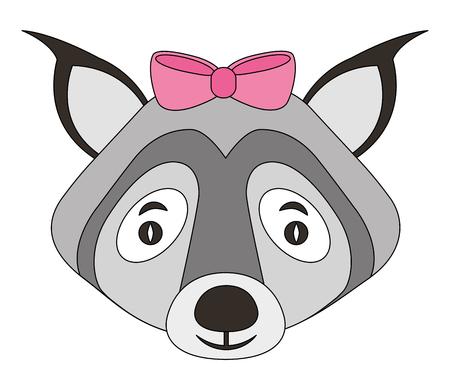 female wolf animal isolated icon vector illustration design