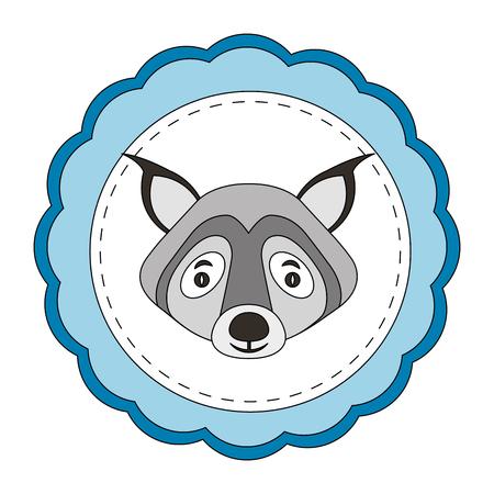 lace masculine wolf animal icon vector illustration design