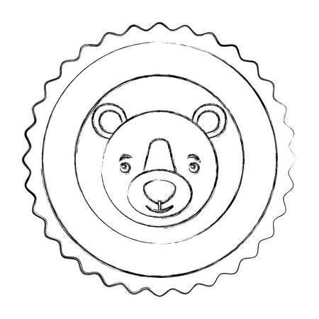 lace bear grizzly isolated icon vector illustration design