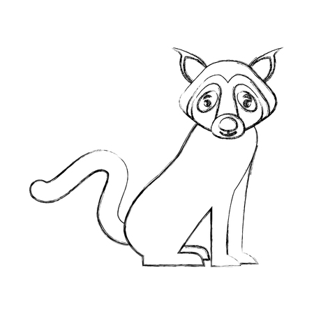 wild wolf animal icon vector illustration design