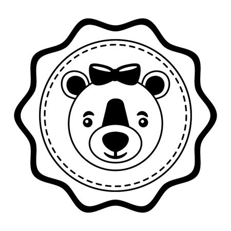 lace female bear grizzly icon vector illustration design Ilustração
