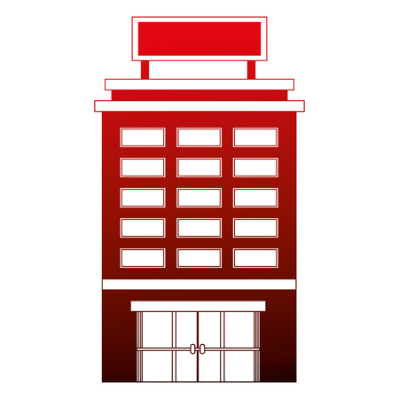 building hotel isolated icon vector illustration design 스톡 콘텐츠 - 103601377