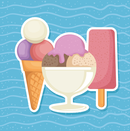 delicious ice cream cup vector illustration design