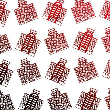building hotel icon pattern vector illustration design