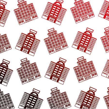 building hotel icon pattern vector illustration design