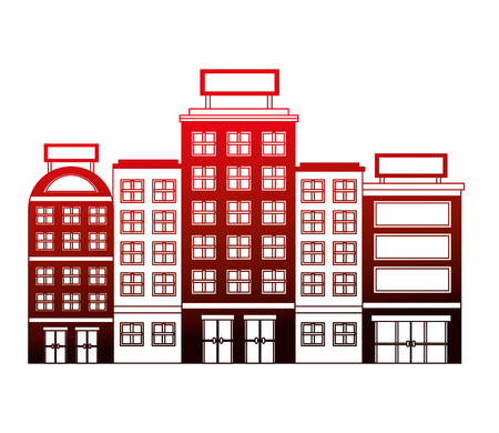 buildings hotel isolated icon vector illustration design