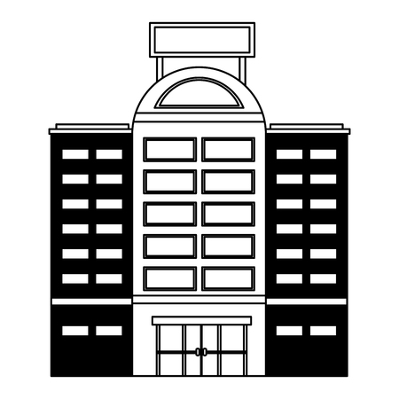 building hotel isolated icon vector illustration design 스톡 콘텐츠 - 103601407
