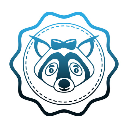 lace female wolf animal isolated icon vector illustration design