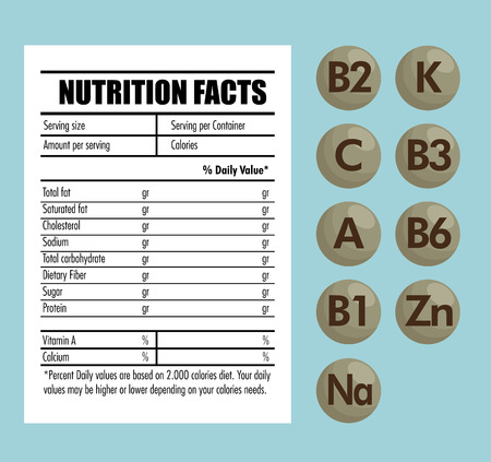 nutrition facts infographic icon vector illustration design