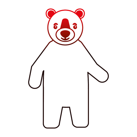 bear grizzly isolated icon vector illustration design