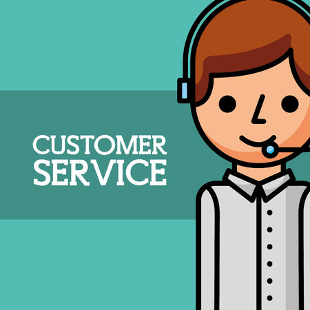 man dispatcher employee customer service vector illustration Vectores