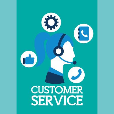 woman agent support customer service vector illustration  イラスト・ベクター素材