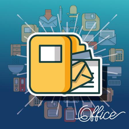 folder file paper organizer documents office vector illustration Illusztráció