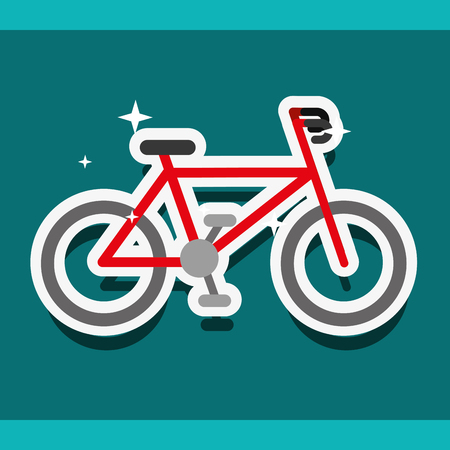 bike sport cardio exercise healthy vector illustration
