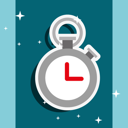 sport stopwatch time tool image vector illustration Illustration