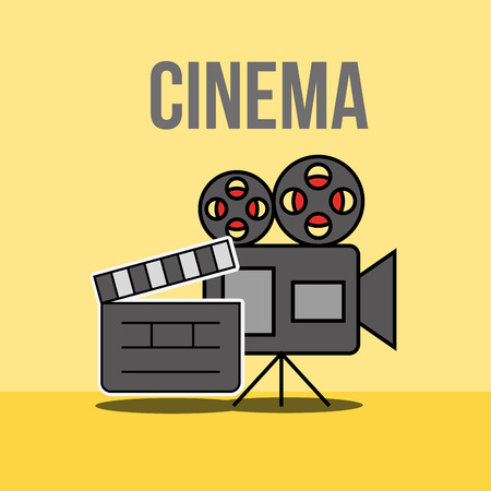cinema film projector board clapper vector illustration Illustration