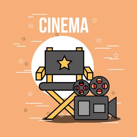 bucket popcorn and 3d glasses cinema vector illustration