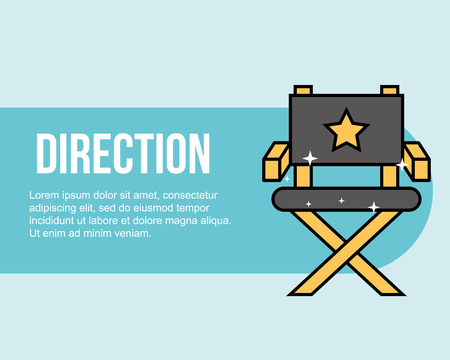 director chair movie cinema banner vector illustration 일러스트