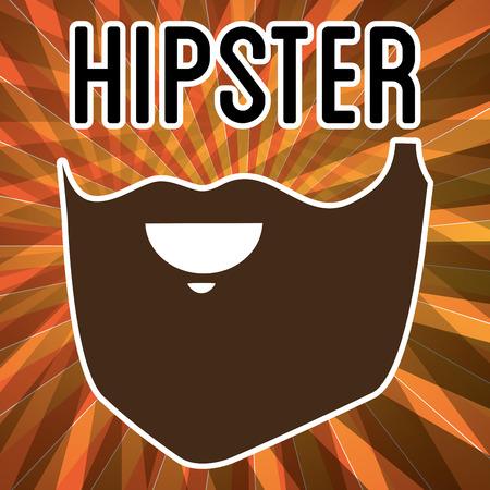 beard style hipster poster vector illustration design Illustration