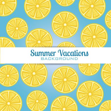 fresh oranges sliceds pattern vector illustration design