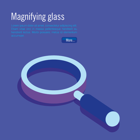 magnifying glass isometric icon vector illustration design Çizim