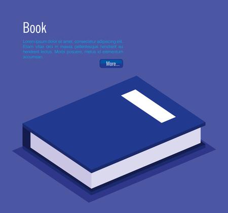 books school isometric icons vector illustration design
