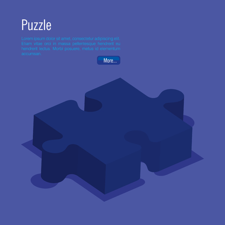 puzzle pieces isometrics icons vector illustration design 向量圖像