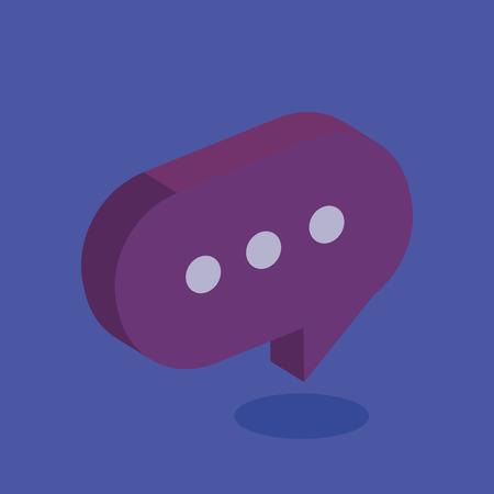 speech bubble isometric icon vector illustration design Ilustrace