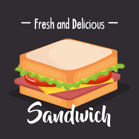 delicious sandwich fast food vector illustration design