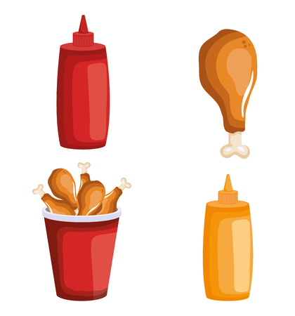 delicious fast food icons vector illustration design Stock fotó - 103520568