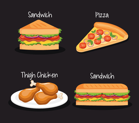 delicious fast food icons vector illustration design Ilustrace