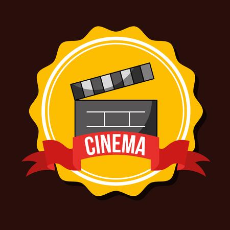 clapperboard movie film emblem cinema vector illustration
