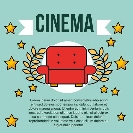 red seat movie stars cinema emblem banner vector illustration Standard-Bild - 103575741