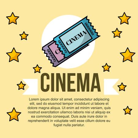 tickets movie stars cinema banner vector illustration Illustration