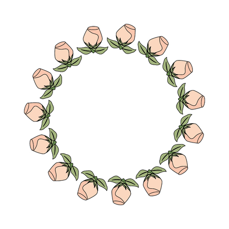 crown with rose beautiful flower icon vector illustration design Archivio Fotografico - 103706051