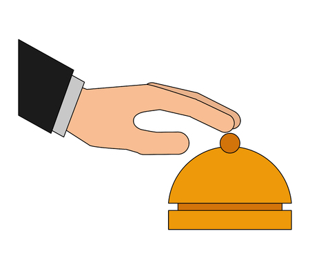 hand with ring hotel isolated icon vector illustration design