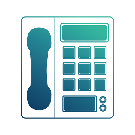 digital telephone isolated icon vector illustration design