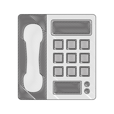 telephone device call communication image vector illustration drawing Illustration