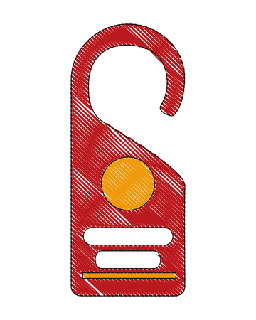 door hanger tag for room in hotel vector illustration drawing