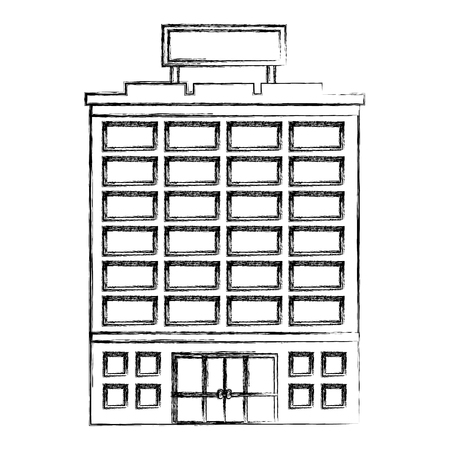 building hotel isolated icon vector illustration design