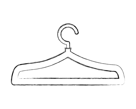 wire clothes hook icon vector illustration design
