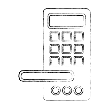 access digital door panel vector illustration design