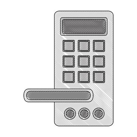 access digital door panel vector illustration design