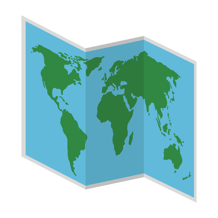 map paper isolated icon vector illustration design Çizim