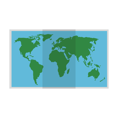 map paper isolated icon vector illustration design Illustration