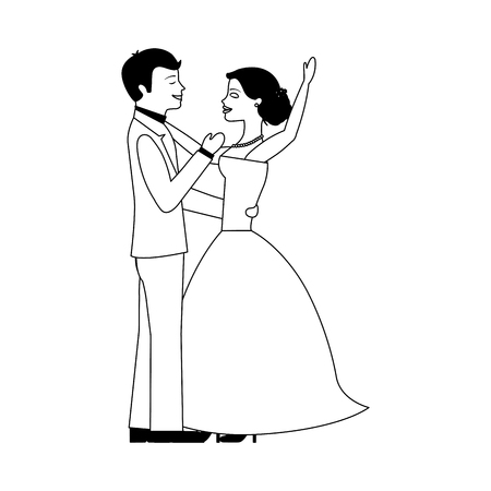 married couple dancing avatar character vector illustration design Фото со стока - 103797994