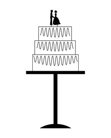 wedding cake isolated icon vector illustration design Illustration