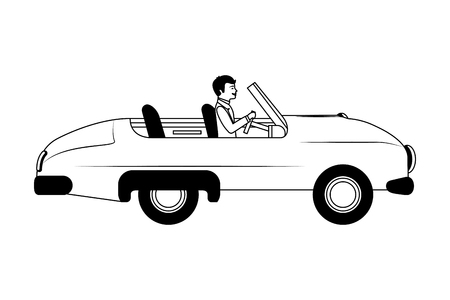classic wedding car with housband marriage isolated icon vector illustration design Standard-Bild - 103798007